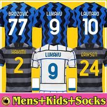 Nova inter milanes camisa de futebol lukaku vidal barella lautaro eriksen alexis hakimi 20 21 camisa de futebol 2020 2021 tercei