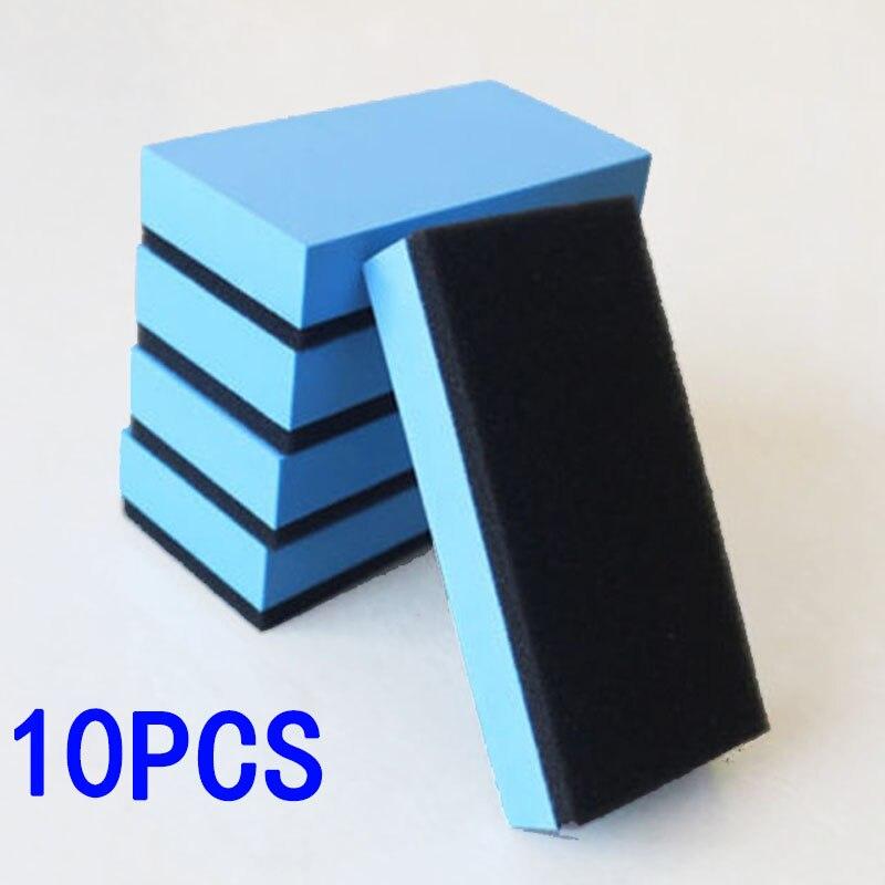 10pcs Car Ceramic Coating Sponge Glass Nano High Quality 7.5*5*1.5cm For Car Waxing, Car Polishing Pads Sponges