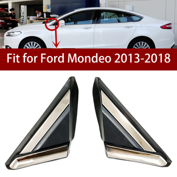 DWCX 2PCS Plastic Car Front Window Door Mirror Triangle Cover Trim Panel Fit For Ford Fusion 2013 2014 2015 2016 2017 18