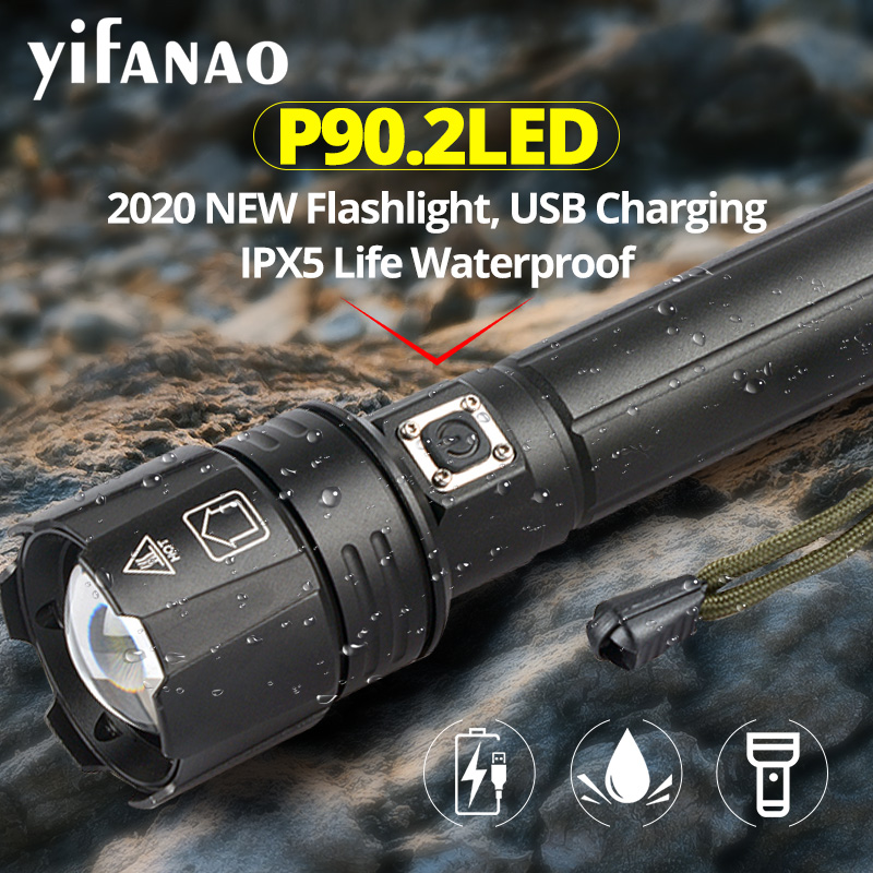 2020 New Drop Shipping XHP90 2 Most Powerful Flashlight XHP50 USB Zoom LED Torch 18650 26650 battery Best Camping Light