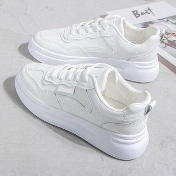 Small White Shoes Woman 2020 Season Student Joker Leisure Time Shoes Thick Bottom Tide Women's Shoes Low Help Woman Skate Shoes
