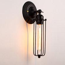 Американский Ретро e27 светодиодный настенный светильник Сельский