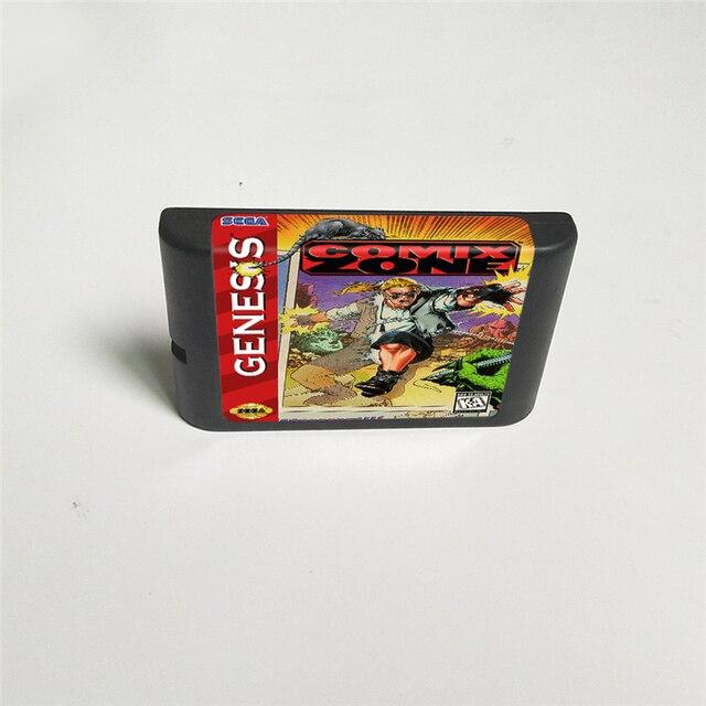 Игровая карта Comix Zone   16 Bit MD для видеоигр Sega Megadrive Genesis, картридж консоли