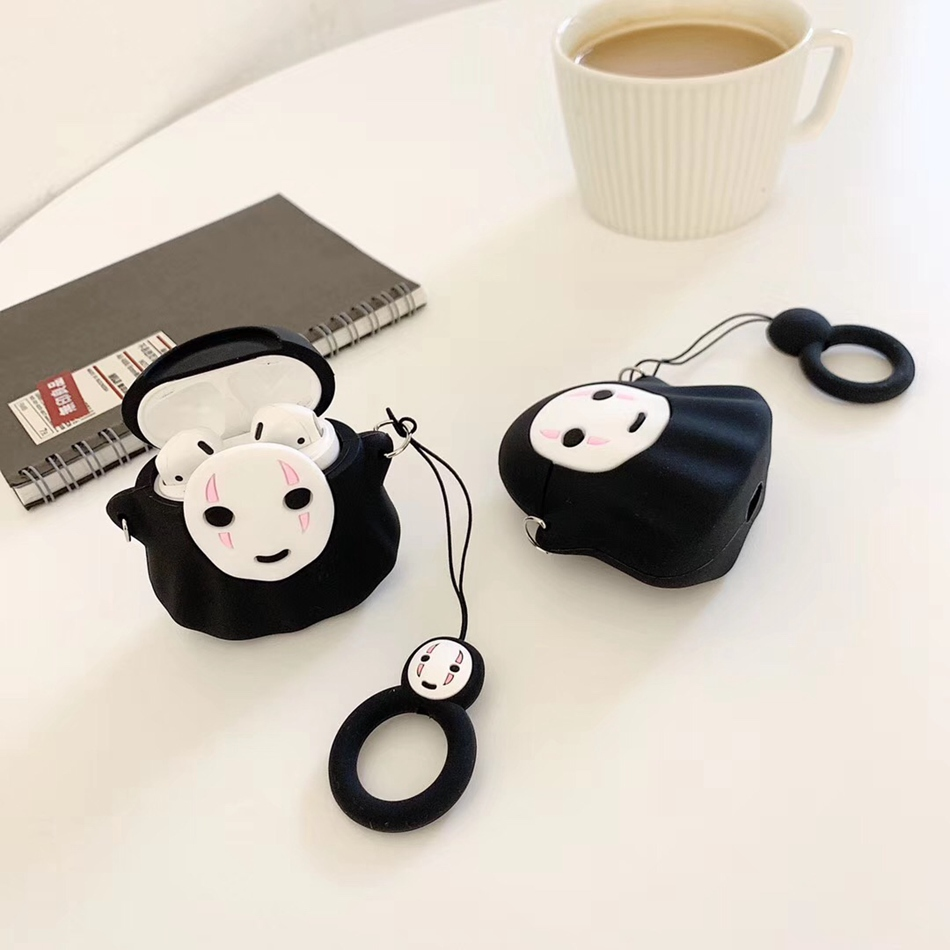 Image 3 - For AirPods Case Cute Cartoon Rabbit Pig Dumbo Earphone Case For Apple Airpods 2 Cover Soft Protect Coque with Finger Ring Strap-in Earphone Accessories from Consumer Electronics