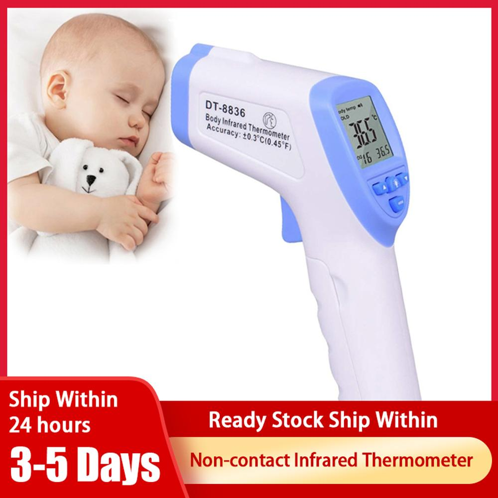 DT-8836 LCD Display Nicht-kontaktieren Stirn Körper Infrarot Thermometer Tragbare Handheld Temperatur Messung (HK Auf Lager)