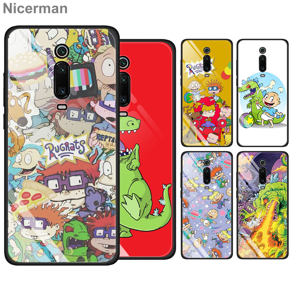 Rugrats <font><b>Amazing</b></font> Tempered Glass Case for <font><b>Xiaomi</b></font> Redmi K20 Pro Note 7 6 Pro Mi A3 A3 Lite Cover Coque image