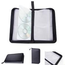 80 luva de couro artificial proteção cd saco dvd ferramenta carry caso titular do carro grande capacidade armazenamento multifuncional retângulo