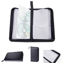 80 Sleeve Artificial Leather Protection CD Bag DVD Tool Carry Case Car Holder Large Capacity Multifunctional Storage Rectangle
