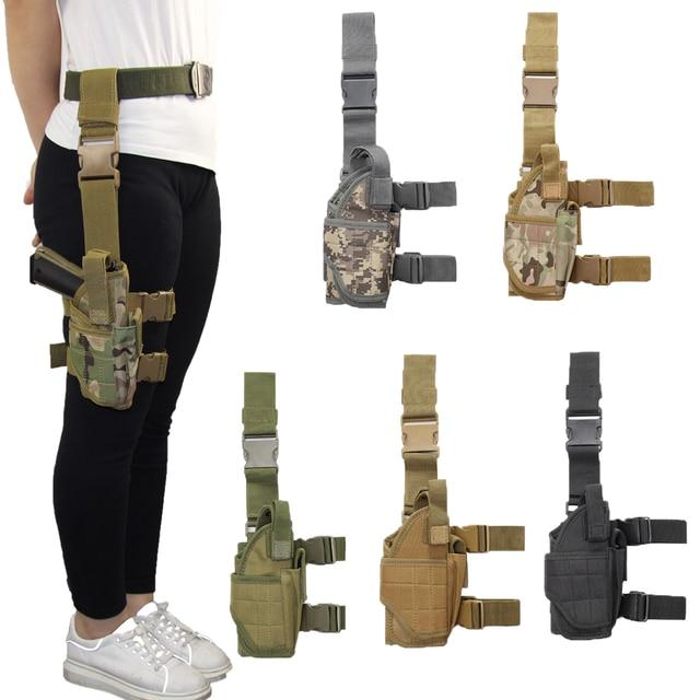 Drop Left/Right Leg Gun Holster gun bag for GLOCK 17/M9/P226/CZ 75 Revolver Leg Adjustable Airsoft Pistol Gun Case For Hunting 1