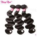 Klaiyi feixes tecer cabelo brasileiro onda do corpo cor natural extensão do cabelo humano 8-30 Polegada remy cabelo 3 peças/lote pode ser tingido