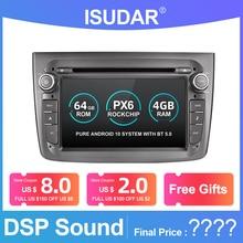 Isudar 1 喧騒車のマルチメディアプレーヤー Android 9 アルファロメオ水戸 2008 CANBUS オートラジオクアッドコアビデオ DVD GPS システム USB DVR