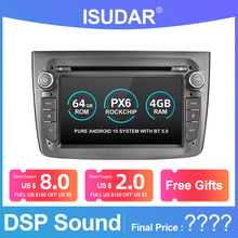 Isudar PX6 1 Din Android 10 Car Multimedia Player For Alfa Romeo Mito 2008  CANBUS Auto Radio Hexa Core Video DVD GPS System DVR