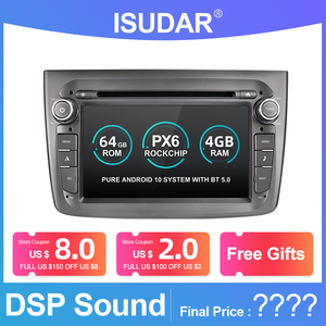 Image 1 - Isudar PX6 1 Din Android 10 Car Multimedia Player For Alfa Romeo Mito 2008  CANBUS Auto Radio Hexa Core Video DVD GPS System DVR