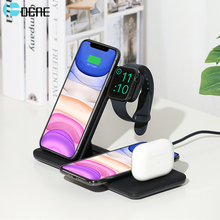 15W Qi Fast Wireless Charger for iPhone 11 Pro Xs Max XR X 8 4 in 1 For Apple Watch 5 4 3 2 Airpods Charging For Samsung S10 S9