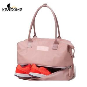 Image 1 - Sports Gym Fitness Dry Wet Separation Yoga Bag Travel Handbags For Shoes Women the Shoulder Sac De Sport Luggage Duffle XA965WD