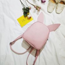 2019 Small Backpack with Three Pairs of Ears Can Replace the Small Back Pack Cute Modeling Backpack Bat Shoulder Bag(China)