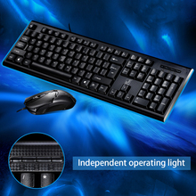 feed me Wired Gaming Keyboard and Mouse Combo Set Usb PC Gaming Mouse For Games Computer Office fit Desktop Gamer intelligent wireless keyboard mouse combo set usb 2 4ghz gaming gamer game mice multimedia waterproof for computer pc desktop
