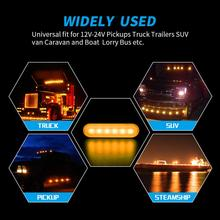цена на 12-24V Truck Car 6 LED Flash Strobe White Amber Emergency Warning Light Flashing Lights
