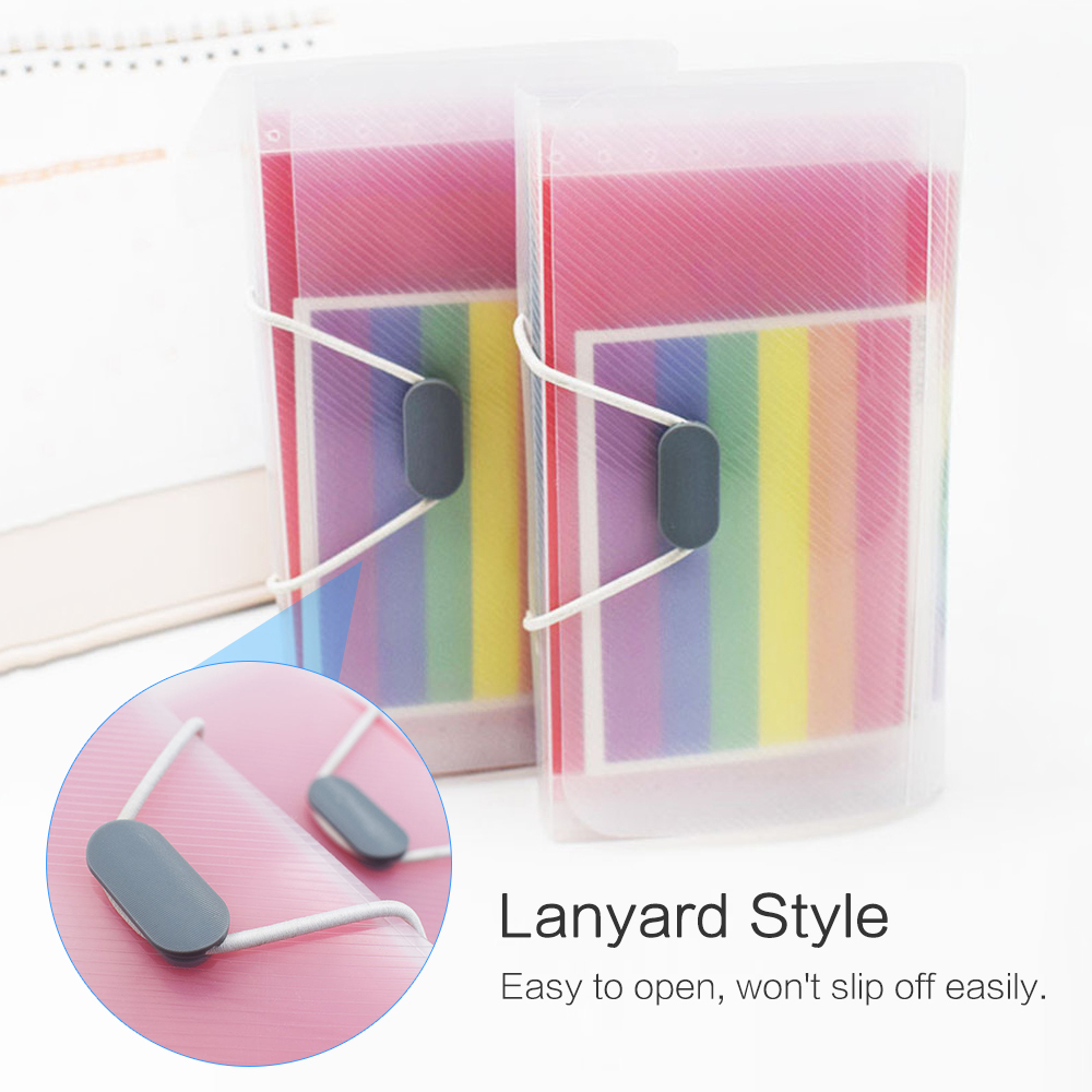Portable A6 & 13-pocket File Folder Document Bag Accordion Expending File Folder With File Guide & Label Cards Office Accessorie