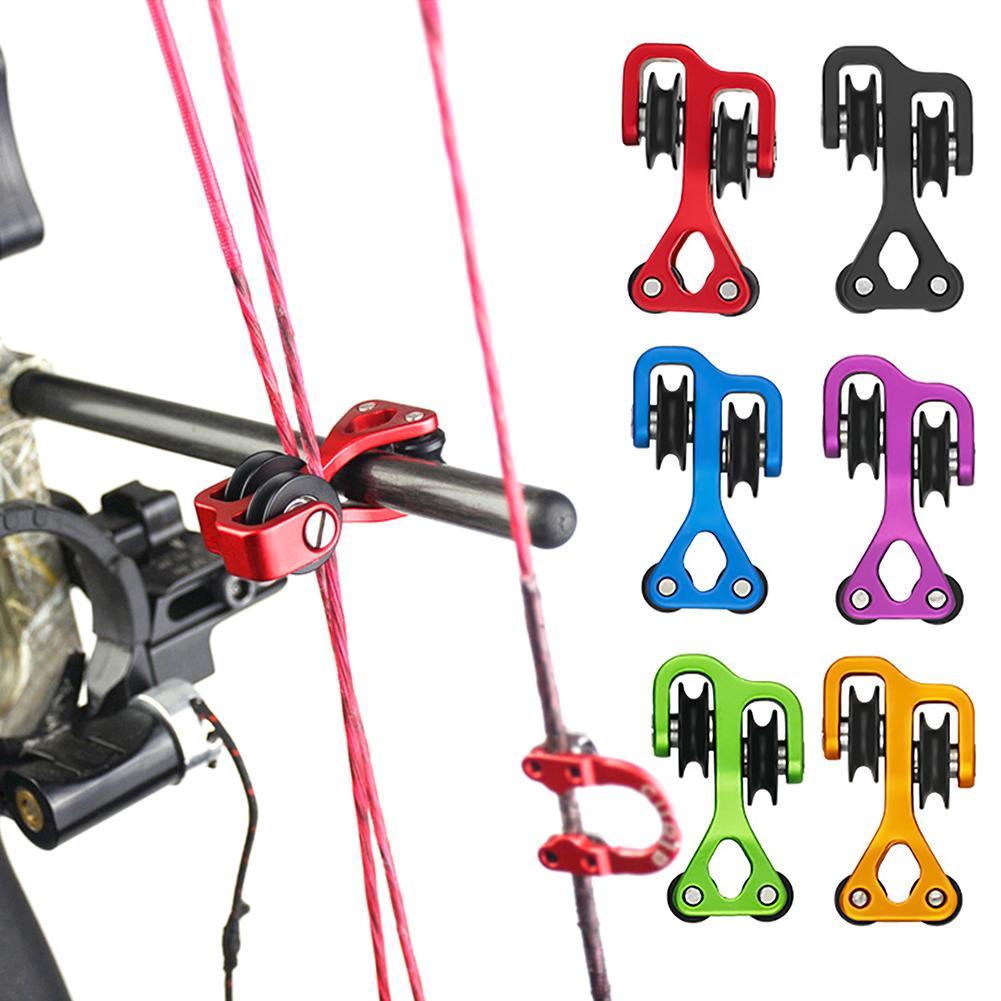 Mini Size Aluminium Alloy Compound Bow Cable Slide Archery Bow String Splitter Arrow Strings Roller Archery Cable Slide Splitter