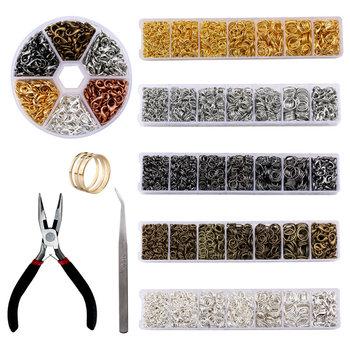 Zestaw biżuterii zestaw narzędzi otwarte pierścienie skoku szczypce jubilerskie haczyki homara pincety jubilerskie elementy do wyrobu biżuterii tanie i dobre opinie QIAO 100g Jewelry Making Supplies Narzędzia jubilerskie i urządzeń Metal Miedzi jewelry tool set-01