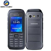 Original desbloqueado samsung xcover 550 duplo núcleo 2.4 polegadas 2mp câmera wcdma bluetooth 1500mah b550h telefone móvel frete grátis