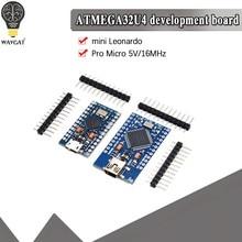 Wavgat pro micro atmega32u4 5v 16mhz substituir atmega328 para arduino pro mini com 2 encabeçamento do pino da fileira para a relação usb de leonardo