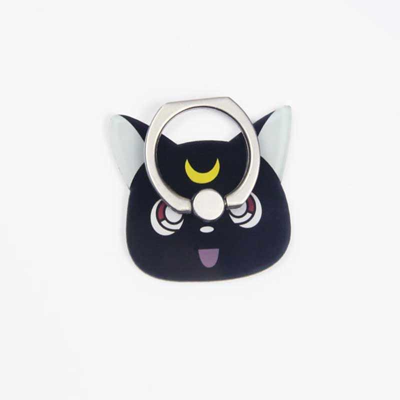 הגעה חדשה טלפון נייד מחזיק מתכת אצבע טבעת מחזיק חמוד Cartoon טלפון טבעת מחזיק מיקי & ירח חתול טלפון Stand תמיכה