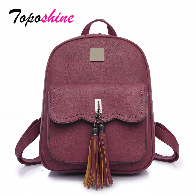 School-Bags Backpacks Perfect Students Women Tassel for Female Top-Handle Thick Treads