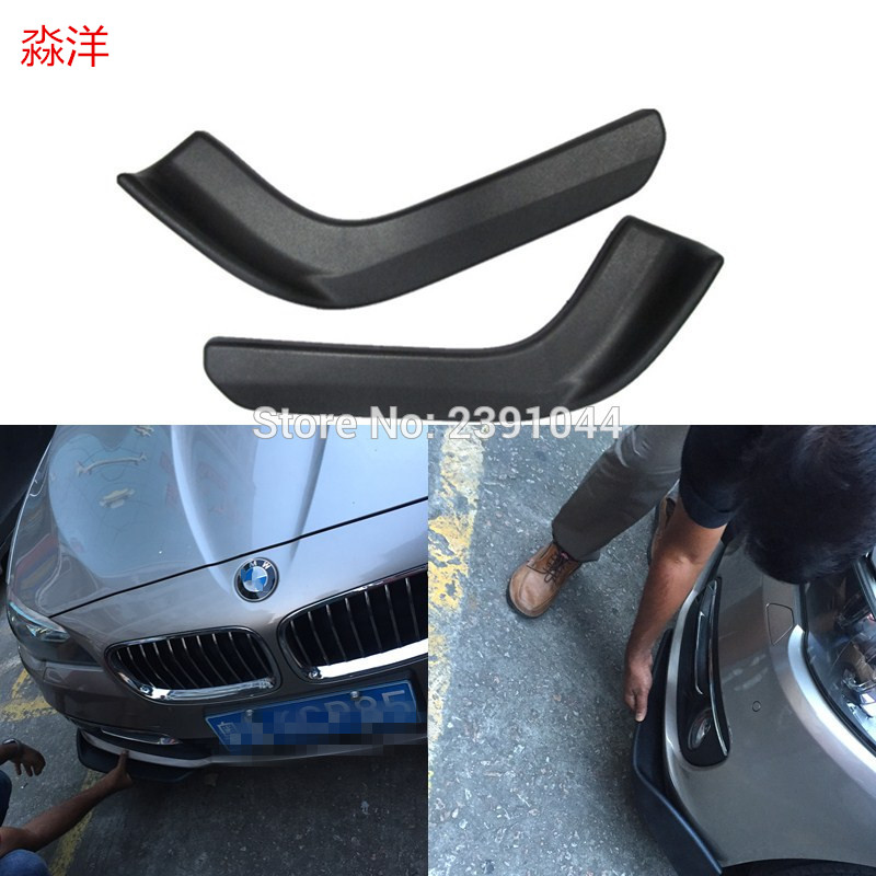 For <font><b>BMW</b></font> M3 <font><b>E30</b></font> E36 E46 racing <font><b>bumper</b></font> spoiler 2pcs modified front shovel decorative scratch resistan from spoiler image
