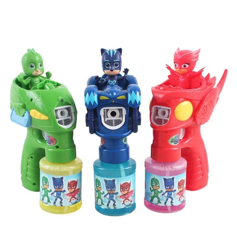 PJ Masks Bubble Making Machine Juguete Catboy Owlette Gekko Figures Christmas Halloween Pj Mask Birthday Gift Toys For Kid