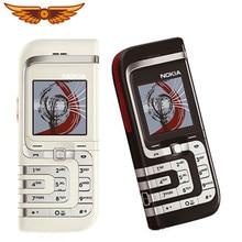 Orijinal Unlocked Nokia 7260 tek çekirdekli FM radyo 760mAh gümüş renk sadece eski ucuz kullanılan cep telefonu