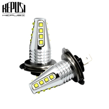 2x H7 LED Bulb Car Fog Lights cree chip Driving Day Running Light Motor Truck Auto Led 80w 12V 24V 6000K White DRL