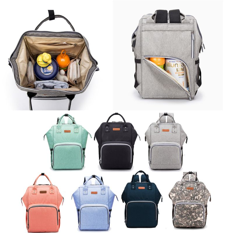 Diaper Bag Backpack Large Nappy Changing Baby Bag Waterproof Mommy Maternity Bag Travel Backpack With Stroller Straps USB Charge
