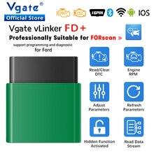 Vgate vLinker FD+ ELM327 Bluetooth 4.0 FORScan For Ford wifi OBD2 Car Diagnostic OBD 2 Scanner J2534 Auto Tool ELM 327  V 1 5