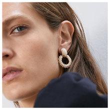 European And American Fashion Creative Retro High Quality Earrings Baroque Imitation Pearls Temperament Texture Alloy