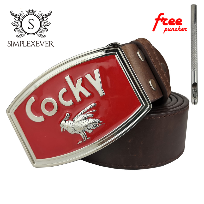Cocky Belt Buckle With Silver Finish Men's Metal Belt Buckle With Leather Belt Fashion Animal Belt Buckle
