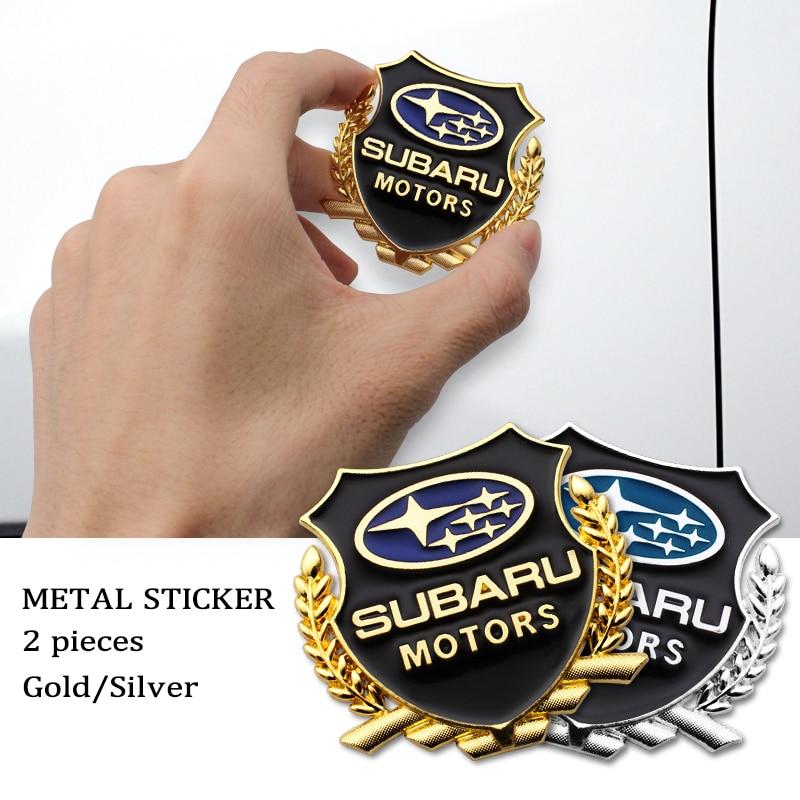 3D металлический бейдж логотип наклейки автомобилей Аксессуары автомобиля наклейки украшения для Subaru Forester, автомобильные аксессуары, брело...