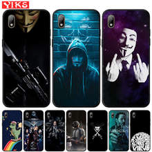 Vendetta Anonymous Mask Cover For Huawei Y5 Lite Y6 Prime 2018 2019 Y7 Y9 Prime 2019 Case For Honor 7A Pro 8S P Smart Z Fundas(China)