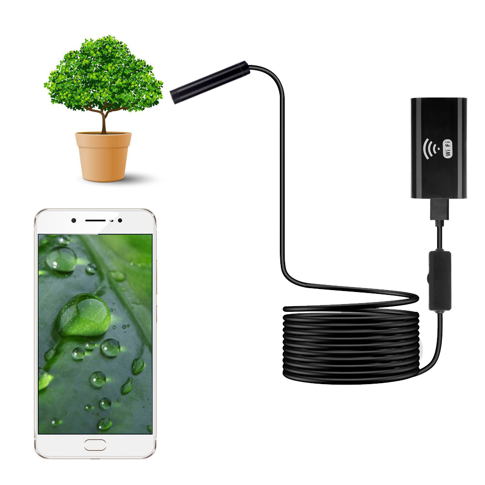 Wireless Wifi Endoscope Camera Mini Waterproof Soft Cable Check Camera Support Ios Android Windows 720P 200W