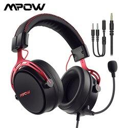Mpow Air SE игровая гарнитура Проводные 3D наушники объемного звучания с шумоподавлением микрофон в линии управления для PC Gamer PS4 PS5