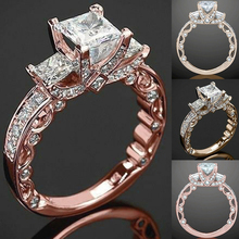 Trendy Crystal Ring Wedding Rings for Women Jewerly Engagement Ring Rose Gold Rings Female Party Jewelry Gifts anillos mujer D40 trendy crystal ring wedding rings for women jewerly engagement ring rose gold rings female party jewelry gifts anillos mujer d40