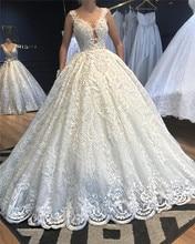 Vestido De Noiva 2020 New Ball Gown Long Wedding Dresses Lace O Neck Custom Made Plus Size Wedding Gowns Robe De Mariee стоимость