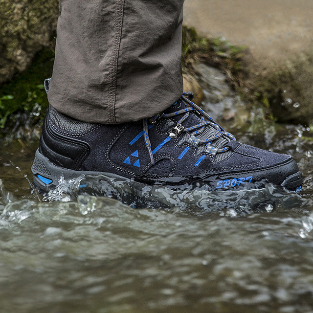 Promotion Low-cut Outdoor Trekking Shoes Men Waterproof Breathable Sport Hiking Shoes Suede Hunting Fishing Shoes Men Sneakers