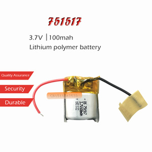 1PC 3.7V 100mAh Li-ion Battery 751517 Lithium Polymer Rechargeable Battery for MP3 MP4 bluetooth headset LED light recorder
