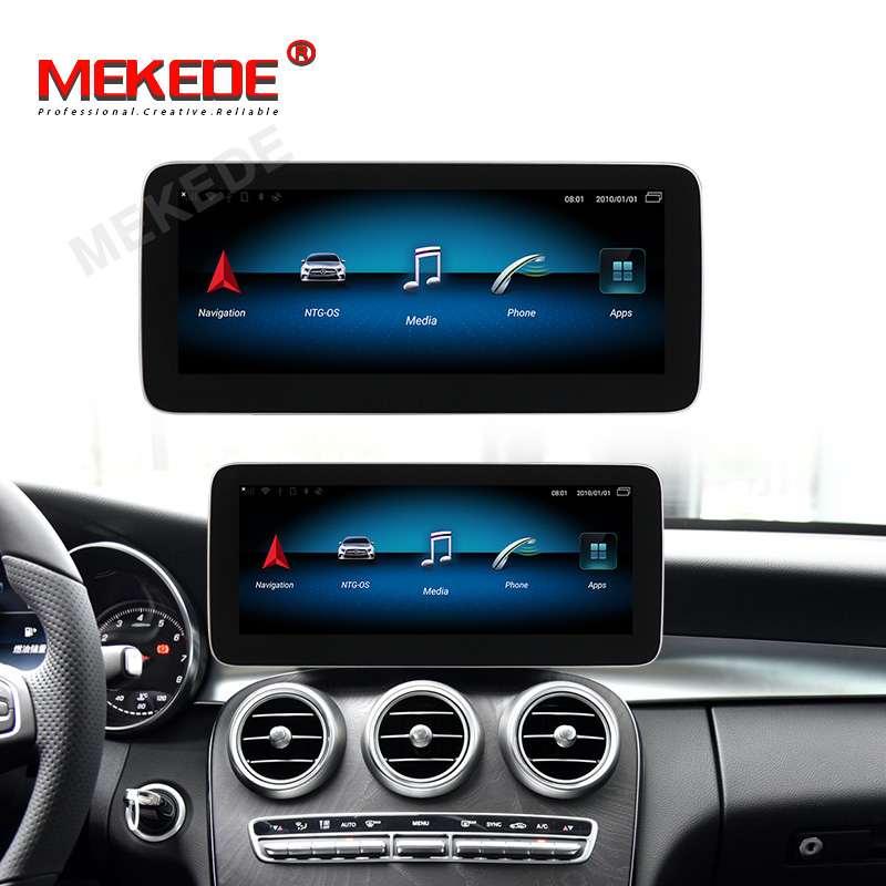 IPS 4+64G 4G LTE 1920*720  Android 9.0 Car Radio For Mercedes Benz GLC W253 2015-2019 With GPS Navigation BT Multimedia 8 Core