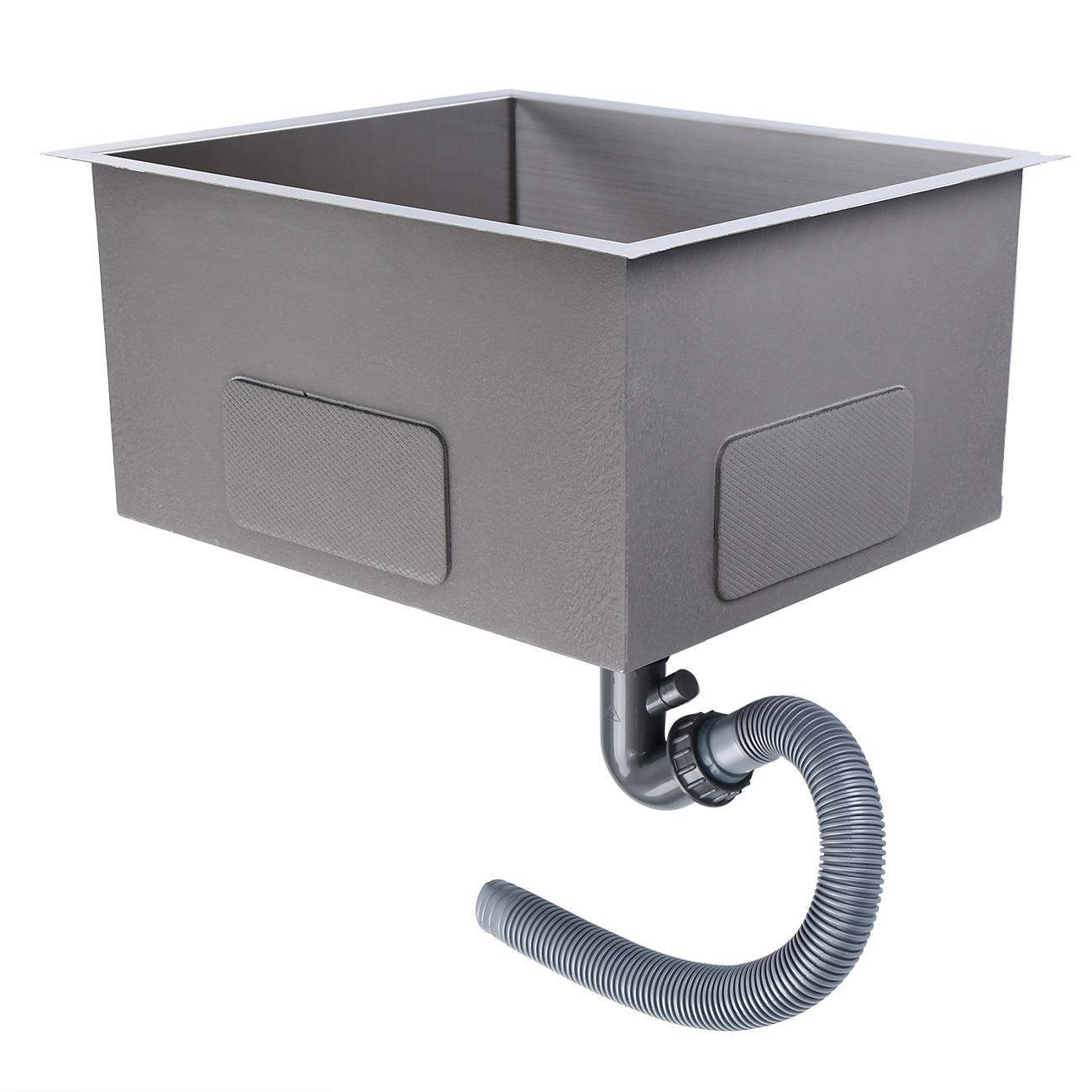 51x45x26 cm encart en acier inoxydable carré évier de cuisine unique encart/Topmount - 6
