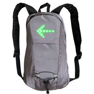 Image 2 - Torba na rower wodoodporny plecak sportowy 15L światło kierunkowskazu LED pilot zdalnego sterowania torba bezpieczeństwa odkryty piesze wycieczki plecak do wspinaczki