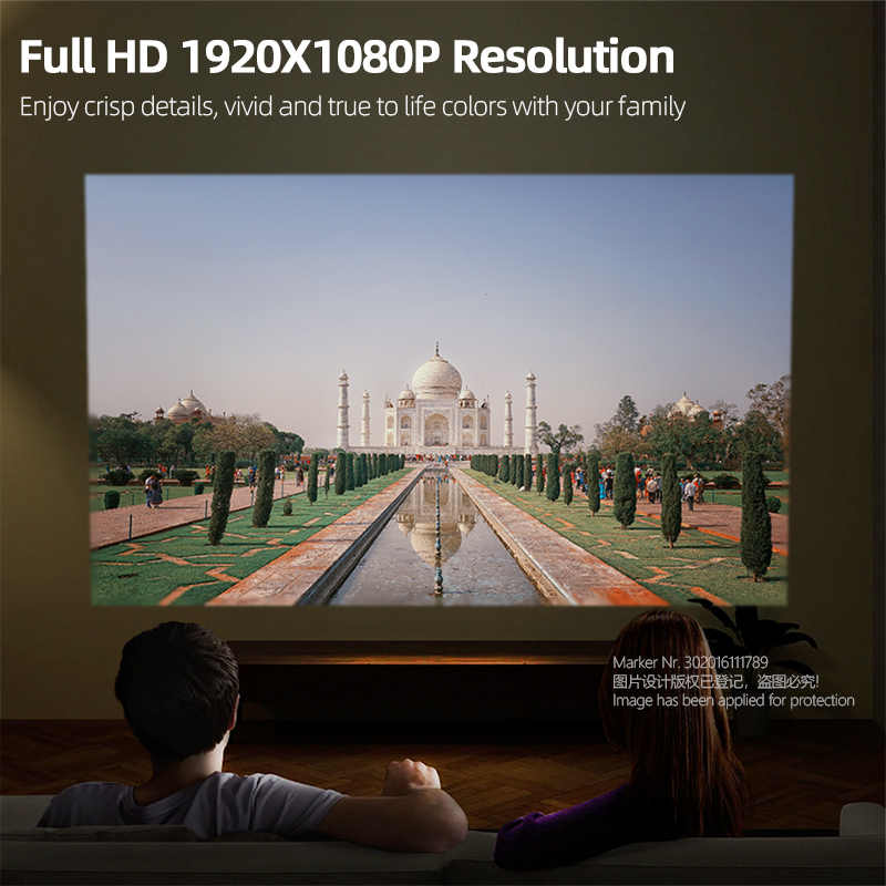 AUN completo HD proyector D9 Android(2G + 16G) WIFI batería láser 3D DLP MINI proyector 1920x1080P gimnasio proyector HDMI 4K Video