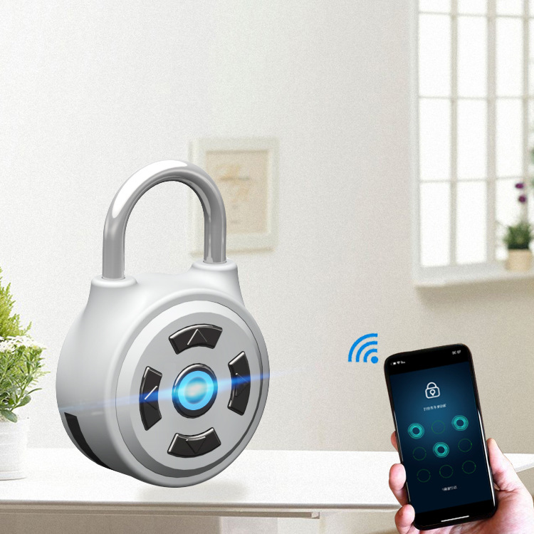 Smart Padlock Electronic Bluetooth Password Mobile Phone APP Backpack Luggage Cabinet Lock Gym Small Padlock M1